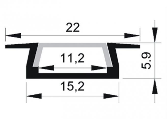 aluminum LED profile dimension