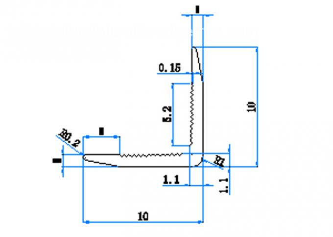 aluminium corner guard drawing
