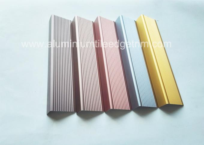 different anodized color aluminium stair nosing profile