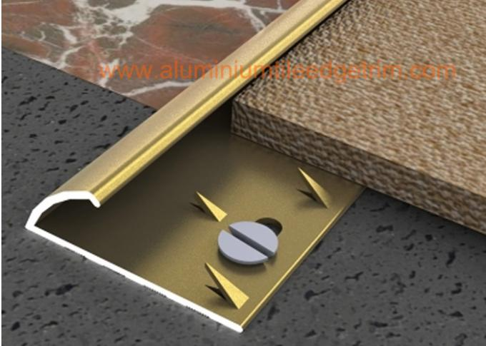 Solid Aluminium Carpet Trim Curved Carpet Transition