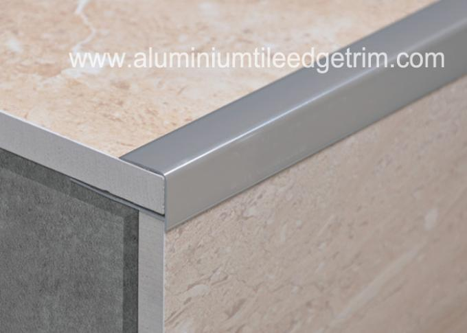 Decorative Aluminium Tile Edge Trim , Silver Straight Edge