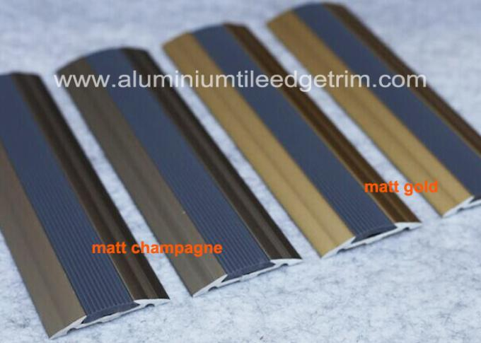 Flat Aluminium Floor Trims Cover Strip Anti Slip Pvc