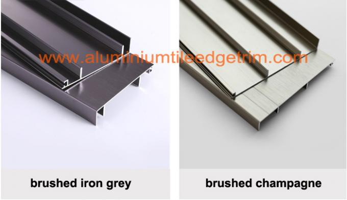 iron grey aluminium skirting board
