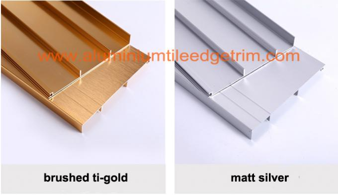 ti gold aluminium skirting board profile