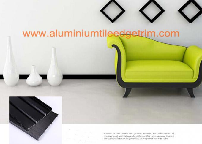 Anti Corrosion Brushed Aluminium Skirting Board For Curved Wall Decoration