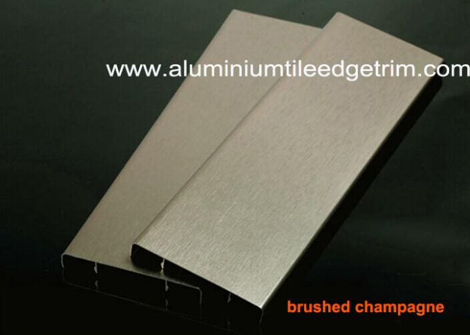 Durable Brushed Aluminium Skirting Perth / Board 60mm Height House Decoration