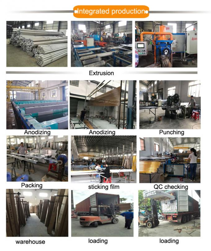 aluminium square edge tile trim manufacturing