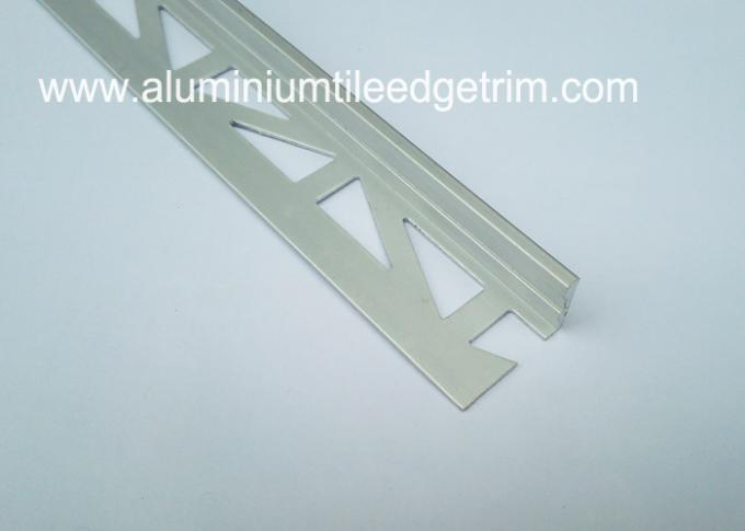 L shaped straight edge aluminium floor trim