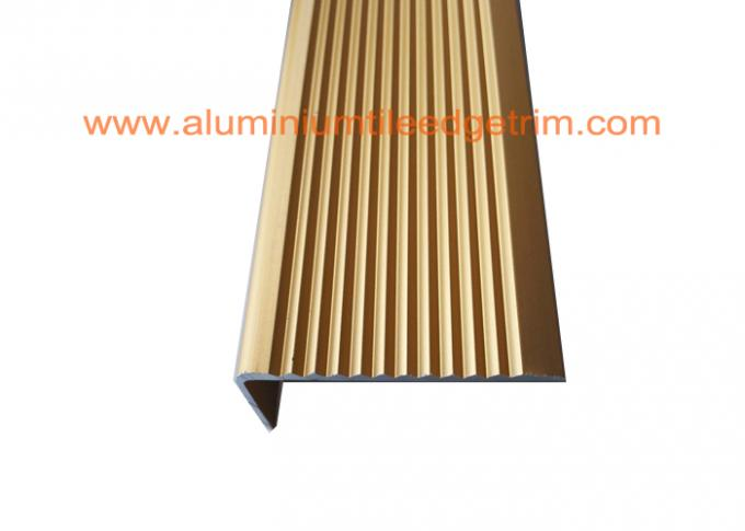 Solid Anodized Brass Aluminum Stair Nosing Profiles