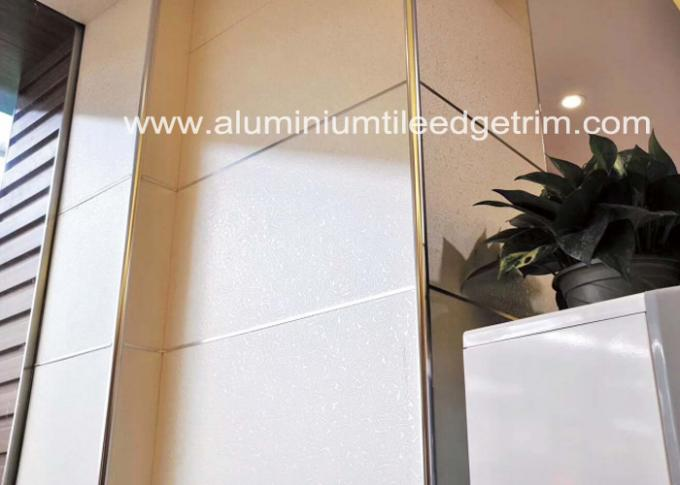 10mm Stainless Steel Round Edge Tile Trim / Outside Corner Trim Long Durability