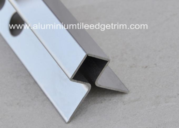 Mirror Effect Stainless Steel Metal Bullnose Border Edge Trim For Outside Corner