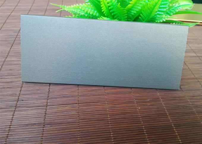 Grey Aluminium Skirting Board Profiles Powder Coating Anti Wear 0.8mm Thickness