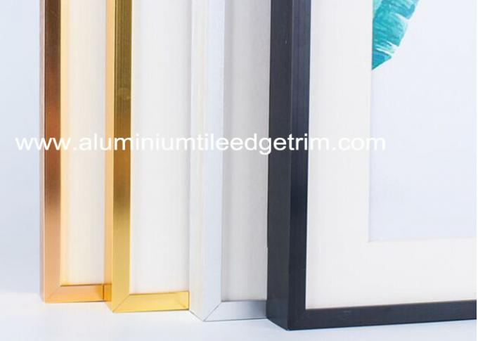 Light Weight Brushed Aluminium Picture Frames Gold Color Snap Application
