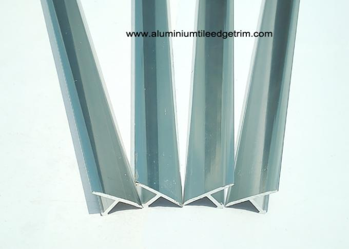 Metal T shaped Tile Edging trim Polished Chrome