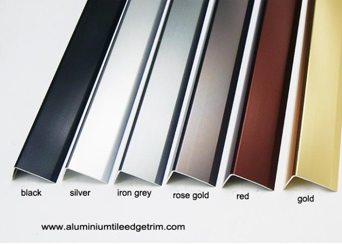 angle shaped aluminium floor edge trim