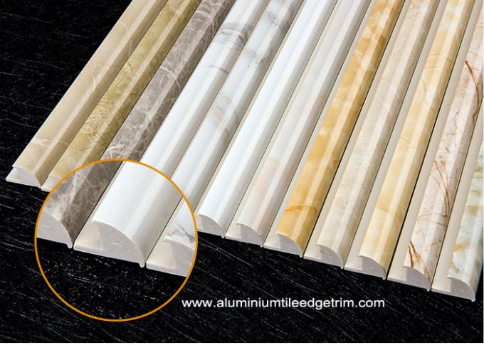solid marble effect natural marble tile trim