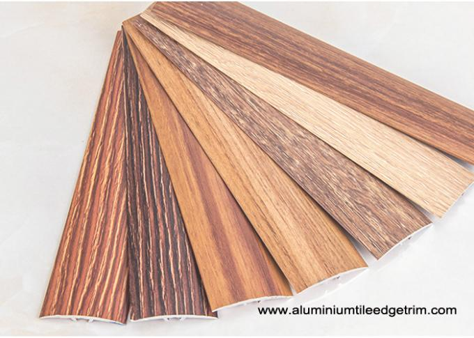 wood effect laminate floor metal edging