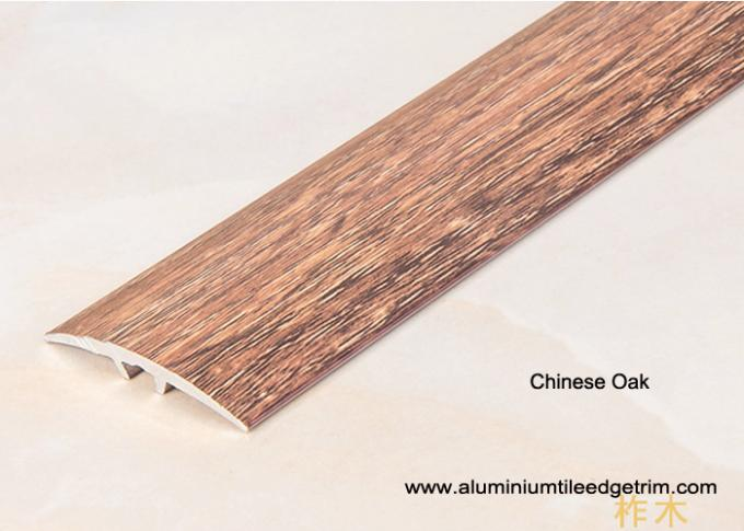 Chinese Oak aluminium carpet to wooden floor trim