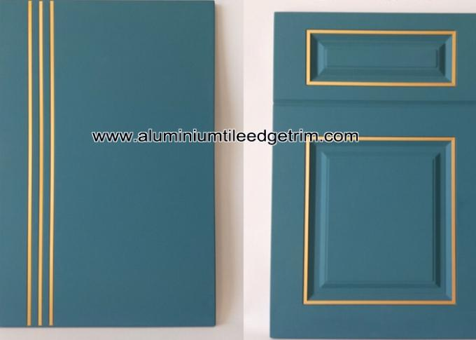 anodized gold T trim for furniture