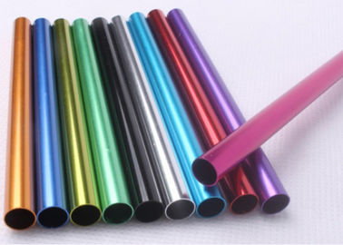 China Different Color Extruded Aluminium Tube Round Shape Profile For Industrial supplier