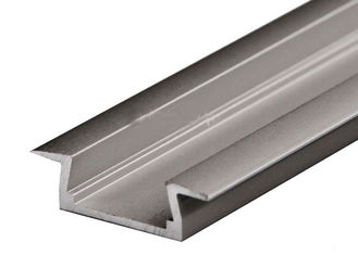 China Flat Slim Thin Aluminum Square Tubing Channel Extrusion Durable Customized Lenth supplier