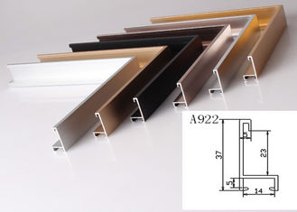 China Anodized Aluminum Metal Picture Frame Moulding Customized Long Durability supplier