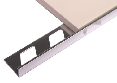 China L Shape Aluminium Straight Edge Tile Trim With Anodized Polished Silver supplier