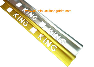 China Quadrant Wall Tile Metal Trim Aluminium Edging Strip With King Punching Holes supplier