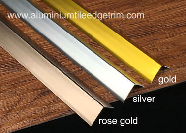 China Sleek Anodized Aluminium Corner Guard Wall Tile Corner Trim 90 Degree Angle supplier