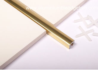 China Polished Golden Listello Tile Trim , Extruded Aluminum U Profile Channel supplier