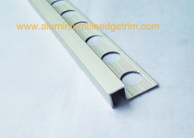 China Anodized Mill Finish Aluminium Square Tile Edge  Trim With 2.5m supplier