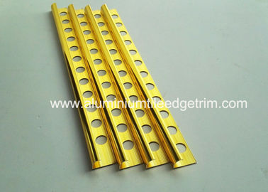China 10mm Round Edge External Corner Tile Trim Bright Polished Golden Effect supplier