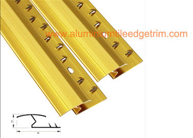 China Flat Aluminium Tile To Carpet Transition Piece Threshold Door Strip Firm Gripping supplier