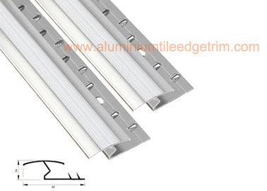 Flat Aluminium Tile To Carpet Transition Piece Threshold Door Strip Firm Gripping