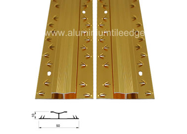 China Both Sides Aluminium Carpet Trim Form Carpet To Carpet Threshold Transition  supplier