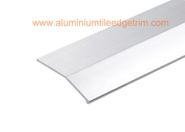 China Matt Silver Carpet Metal Cover Strip / Edge Strips For Different High Floor supplier