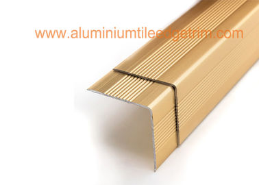 China Decorative Aluminum Stair Nosing Edge Trim Right Angle 3cm X 3cm Easy Installation supplier