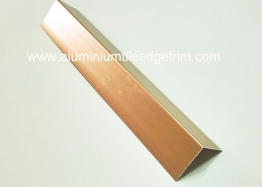 China Polished Effect Rose Gold Aluminium Corner Protectors For Walls 30mm Width supplier