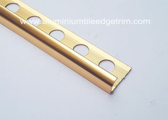 China 10mm Aluminium Tile Edge Trim , Anti - Oxidation Metal Trim Pieces For Tile  supplier