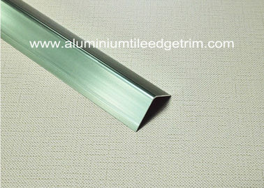 China Good Anodized Champagne Aluminium Angle Trim 20mm x 20mm x 2.5m supplier