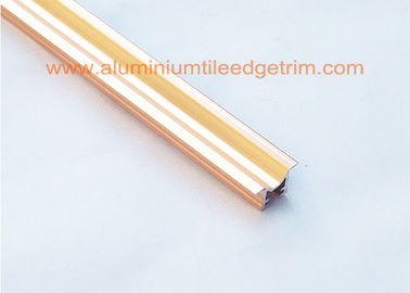 China Premium M Shaped Chrome Tile Trim Listello Profile Anodized Rose Gold Color supplier