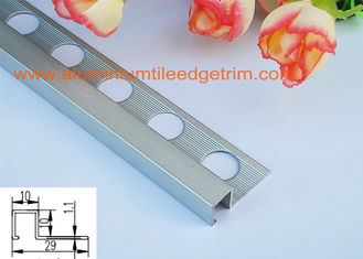 China 10mm x 2.5m Aluminium Box Mosaic Tile Trim Anodized Matt Silver supplier
