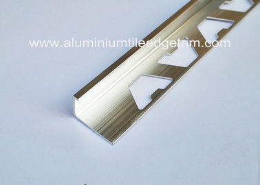 China Anti Corrosion tile trim chrome square edge 12mm polished Bright Chrome Effect supplier