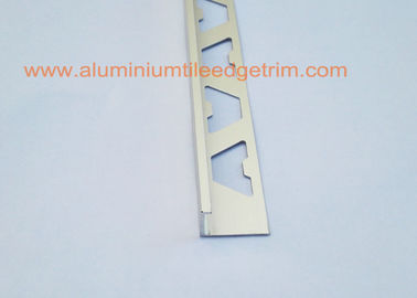 China Angle Type Aluminium Tile Edge Trim 12mm , Aluminum Straight Edge For Tile supplier