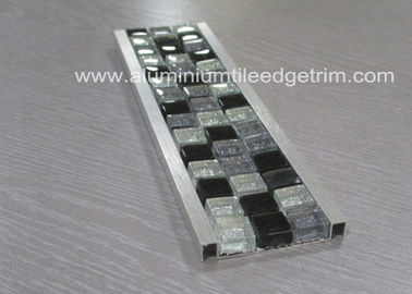 China Bathroom Mosaic Tile Trim , Mosaic Tile Corner Pieces Wall Liner Different Size supplier