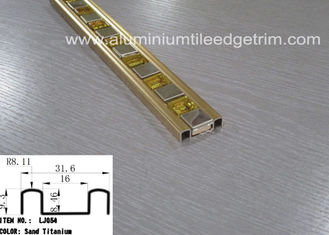 China Rust Proof Glass Mosaic Tile Trim Edge Listello Bar Polished Gold Aluminium supplier