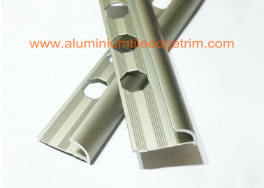 China Matt Champagne Aluminium alloy Rounded Edge Tile Trim With 10 mm Inside Height supplier