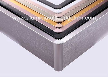 China Anti Corrosion Brushed Aluminium Skirting Board For Curved Wall Decoration supplier