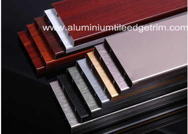 China Durable Brushed Aluminium Skirting Perth / Board 60mm Height House Decoration supplier