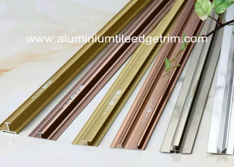 China H / Mid Joint Aluminium Flooring Profiles Tile Trim Cladding Panels Applied supplier